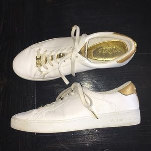 Michael Kors 'The Jet set 6' Gold/White Sneakers